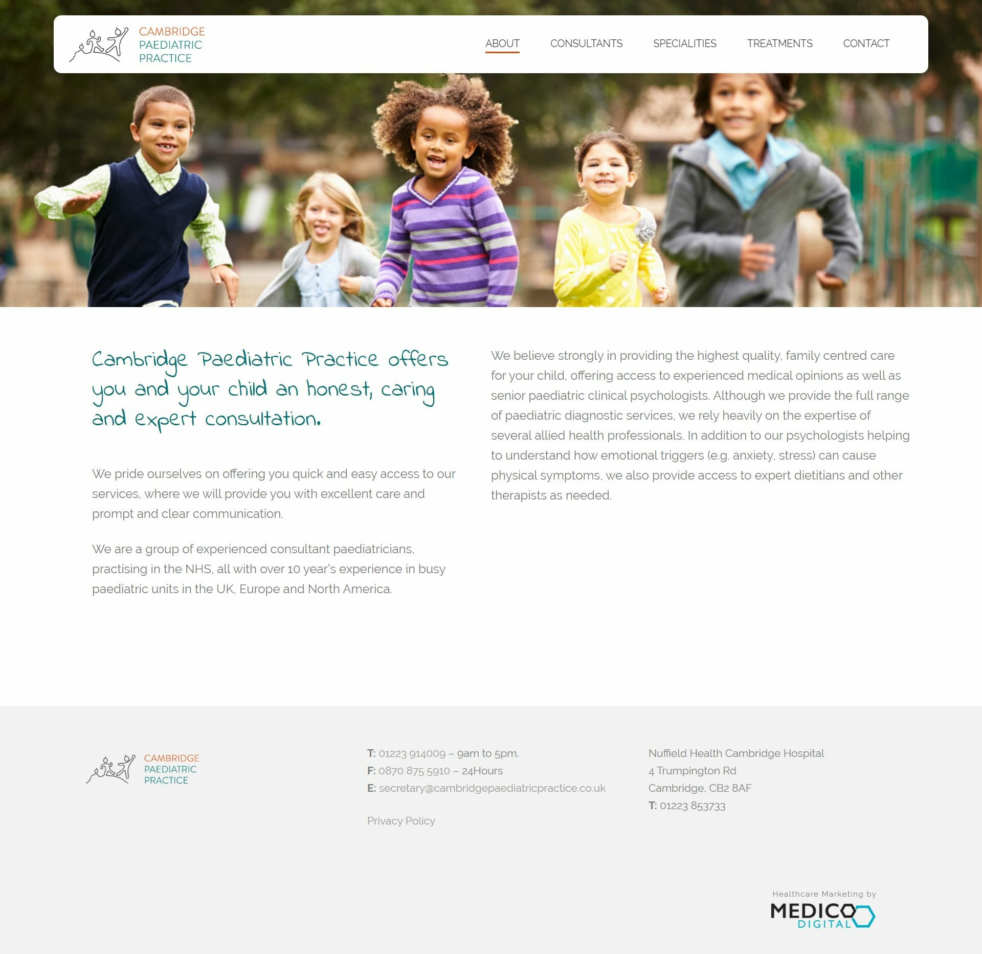 cambridgepaediatricpractice.co.uk