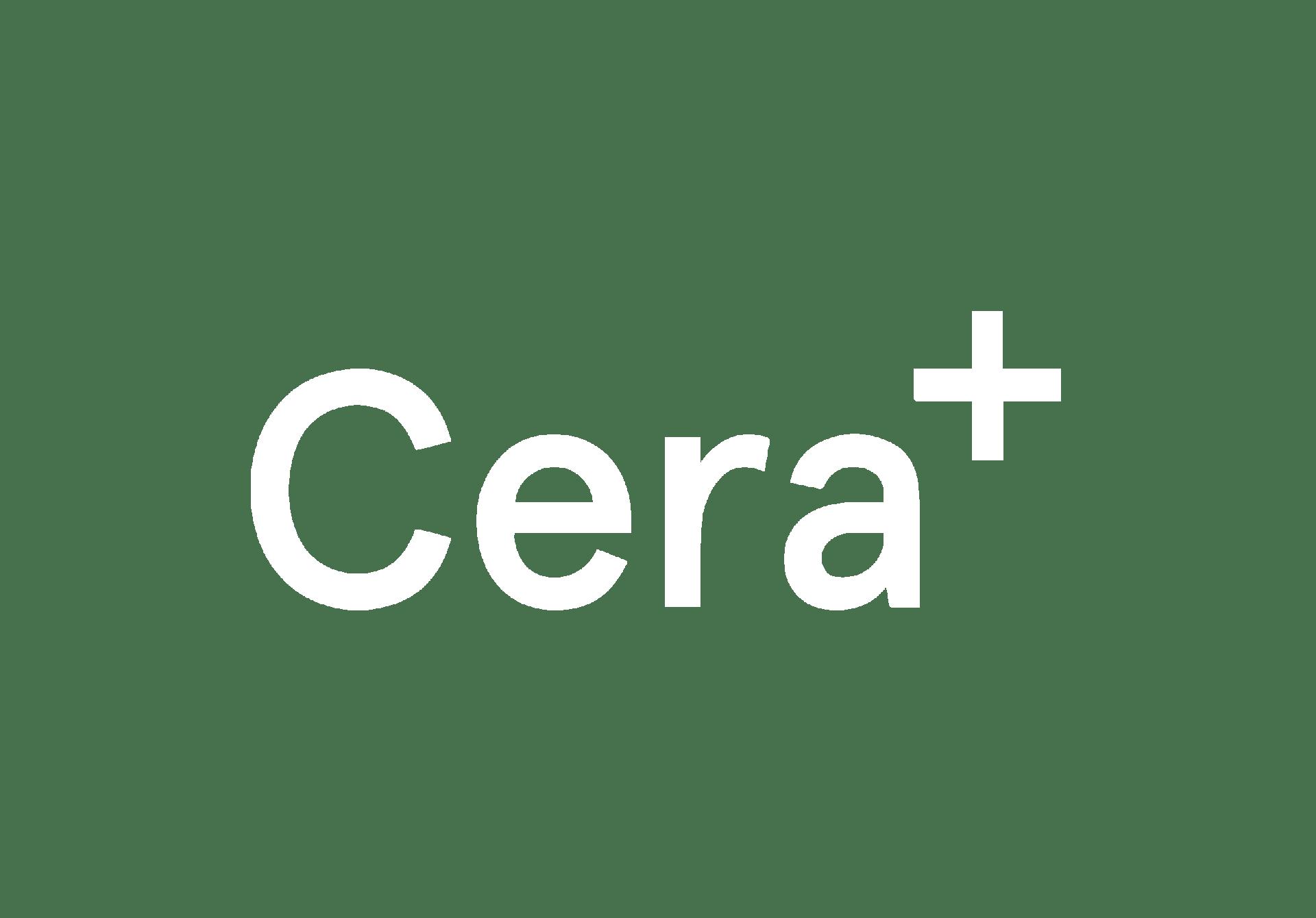 Cera+ Healthcare Website White Logo