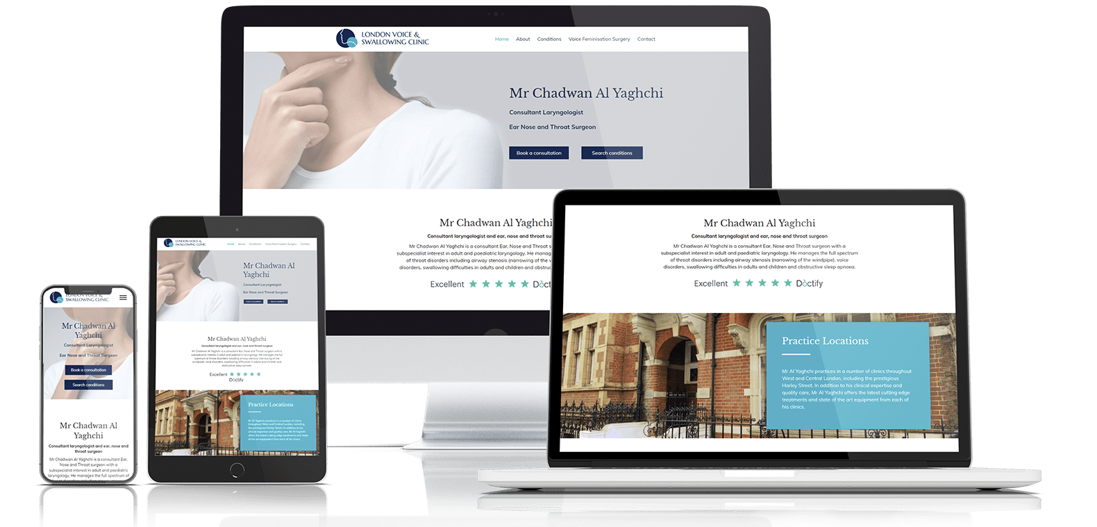 Website design example for LVS clinic