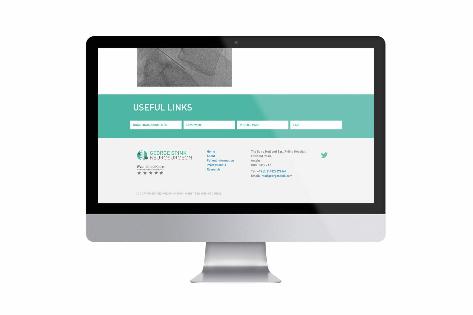 George Spink Website example on Mac